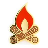 These Are Things Campfire Pin