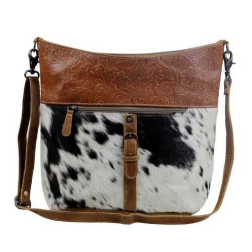 Women's Myra Bag Snooze Leather & Hairon Bag