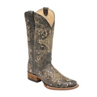 Women's Corral Crackle Square Toe Boots