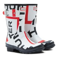 Women's Hunter Original Short Exploded Logo Rain Boots