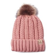 Youth Girls' C.C Fleece Lined Pom Beanie