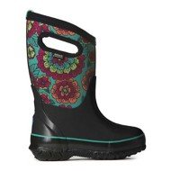 Grade School Girl's BOGS Classic (Pansies) Winter Boots
