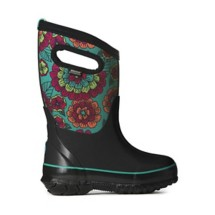 Grade School Girl's BOGS Classic (Pansies) Winter Boots