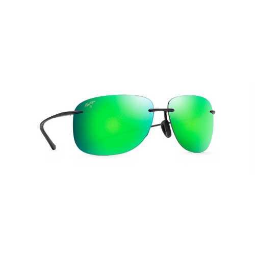 Matte Black/Green Mirror