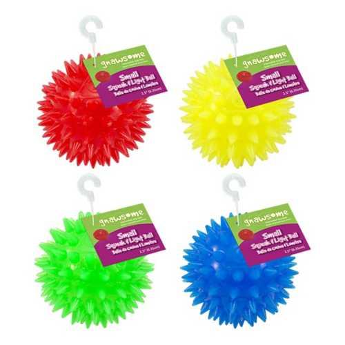 "Gnawsome 2.5"" Squeak & Light Ball"