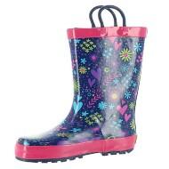 Preschool Girls Washington Shoe Company Willow Reflective Printed Waterproof Rain Boots