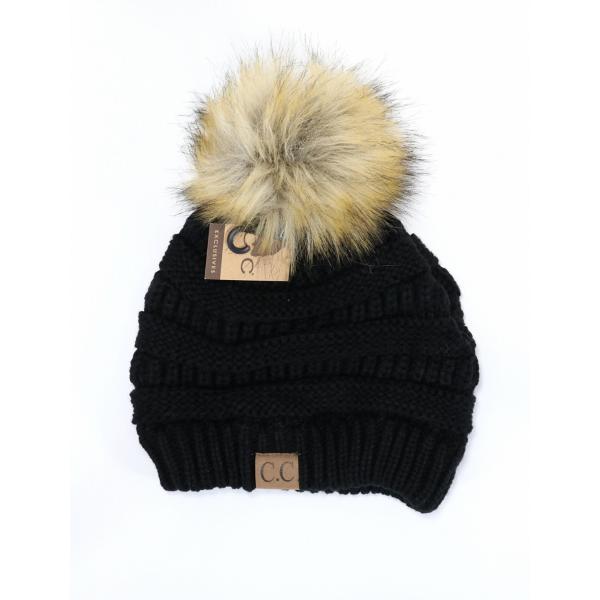 Women s C.C. Fur Pom Beanie  69377a27ea0