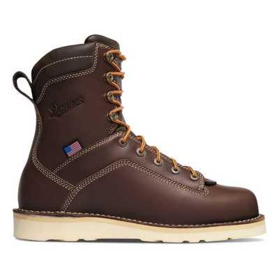 """Men's Danner Quarry USA 8"""" Brown Wedge AT"""
