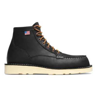 "Men's Danner Bull Run Moc Toe 6"" Black Boots"