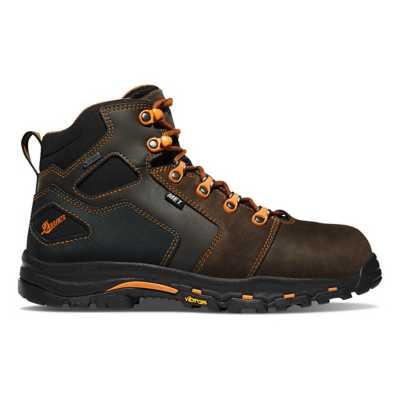 """Men's Danner Vicious 4.5"""" Brown/Orange MET/NMT Boots"""