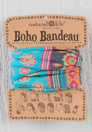 Natural Life Turquoise Medallion Boho Bandeau Headband
