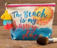 Natural Life Happy Place Canvas Pouch