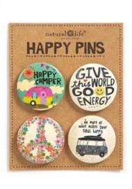 Natural Life Happy Camper Pin Set