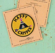Natural Life Happy Camper Teepee Patch
