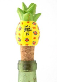 Natural Life Live A Pineapple Life Bottle Stopper