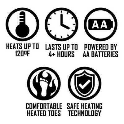 ActionHeat AA Battery Heated Slippers