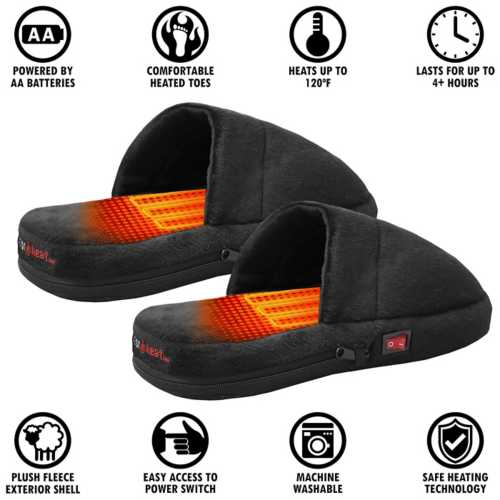 ActionHeat AA Battery Heated Slippers