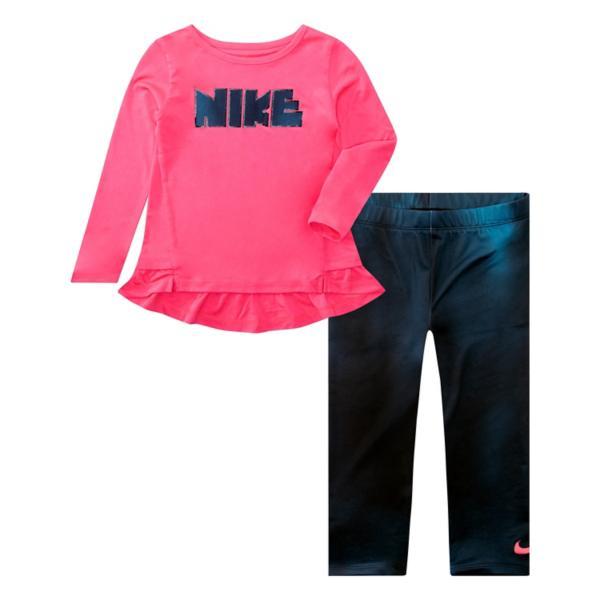 Infant Girls Nike Dri Fit Peplum Tunic And Unicorn Legging Set