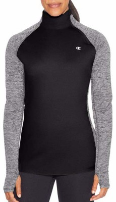 Women's Champion 1/4 Zip Long Sleeve Shirt