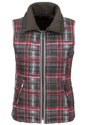 Women's Tribal Ribbed Collar Puffer Vest