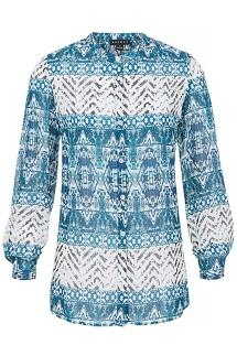 Women's Tribal Button-Up Long Sleeve Shirt