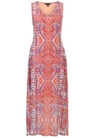 Women's Tribal Sleeveless Maxi Dress
