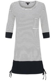 Women's Tribal Striped 3/4 Sleeve Dress