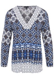 Women's Tribal Mix Printed Long Sleeve Tunic