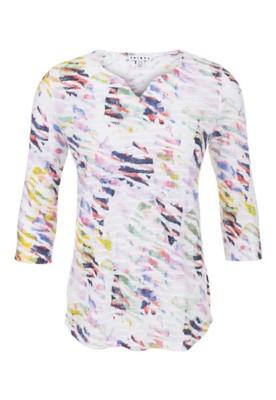 Women's Tribal Multi Colored 3/4 Sleeve Shirt