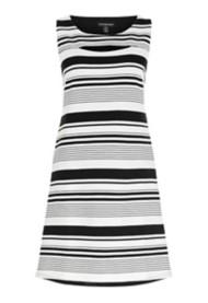 Women's Tribal Striped Peek-a-Boo Dress