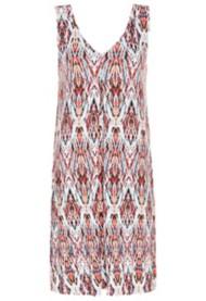 Women's Tribal Pleated Sleeveless Dress