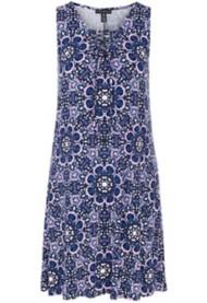 Women's Tribal Lace-Up Sleeveless Dress