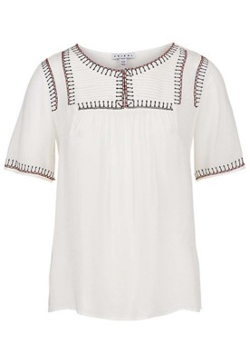Women's Tribal Embroidered Short Sleeve Blouse