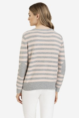 Women's Tribal Elbow Patch Crew Sweater