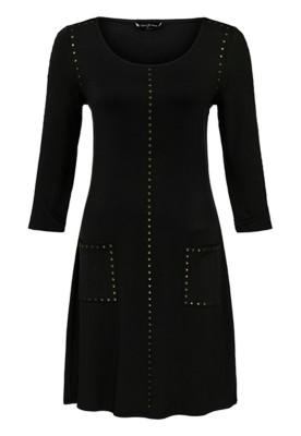 Women's Tribal Pockets and Studs 3/4 Sleeve Dress