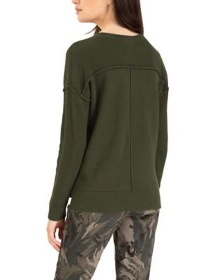 Women's Tribal Drop Shoulder Crop Sweater