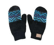 Women's Kyber Charcoal Zigzag Mittens
