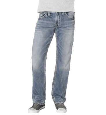 Men's Silver Jeans Zac Joga Light Wash Relaxed Fit/Straight Leg Jean' data-lgimg='{