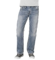 Men's Silver Jeans Zac Joga Light Wash Relaxed Fit/Straight Leg Jean