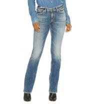 Women's Silver Jeans Suki Slim Light Wash Bootcut Jean
