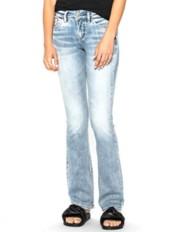 Women's Silver Jeans Suki Mid-Rise Slim Bootcut Jean