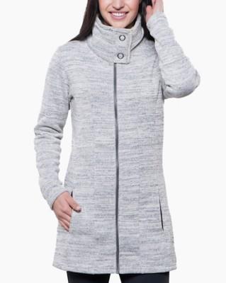 Women's Kuhl ALong Sleeve Shirtka Long Fleece Jacket