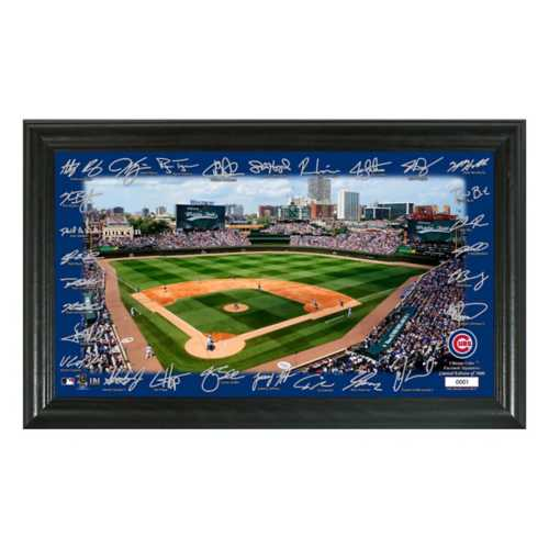 Highland Mint Chicago Cubs Signatures & Stadium Picture