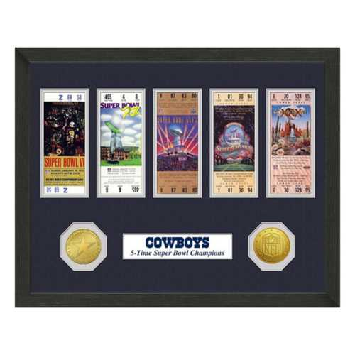 Highland Mint Dallas Cowboys Super Bowl Tickets Framed Photo