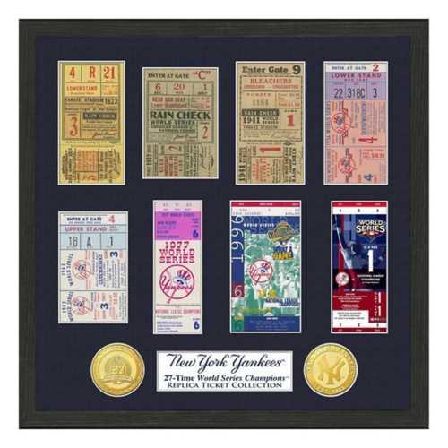Highland Mint New York Yankees Framed World Series Tickets
