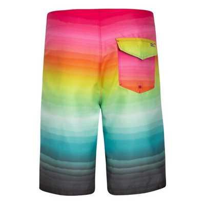 NEW Hurley black pink stripe boys youth swim board shorts swimsuit sz 4 or 7