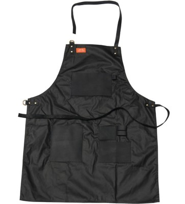 Traeger Apron - Black Waxed Canvas and Leather