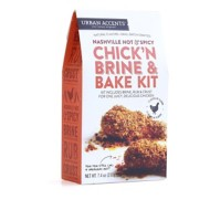 Urban Accents Nashville Hot and Spicy Chick'N Brine and Bake Kit