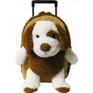 Youth Kreative Kids Plush Brown Puppy Roller Bag
