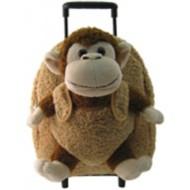 Youth Kreative Kids Plush Brown Monkey Roller Bag